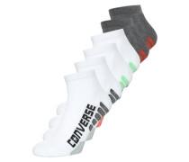 6 PACK Socken white/green/black/grey