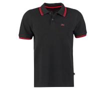 TWIN STRIPE - Poloshirt - black/red