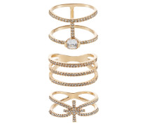 PREMOSELLO 3 PACK - Ring - gold-coloured
