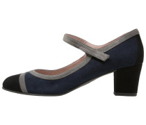 Pumps negro/granit/pacific