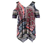 PATCHWORK PAISLEY COLD SHOULDER - T-Shirt print - navy