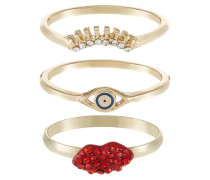 3 PACK Ring multicoloured