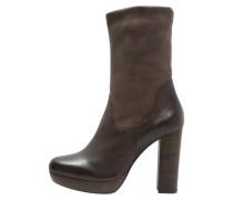 High Heel Stiefelette dark brown/taupe