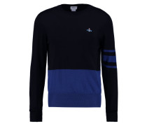 Strickpullover - blue/black