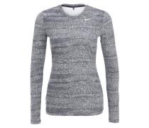 Langarmshirt - black/white/metallic silver