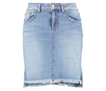 MIRAH Jeansrock light stone wash