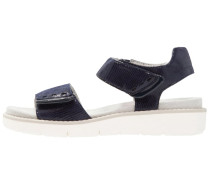 Plateausandalette - navy