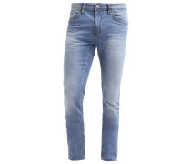 CULVER Jeans Slim Fit mid stone wash denim