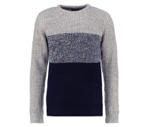 Strickpullover dark blue/mottled grey