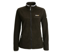FLOREO II Fleecejacke black/grey