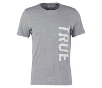 TAILORED FIT TShirt print grau mel