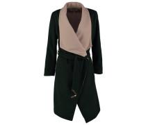 Wollmantel / klassischer Mantel dark green