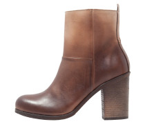 MALLET High Heel Stiefelette dark brown/natural