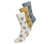 3 PACK Socken khaki/grey/stone