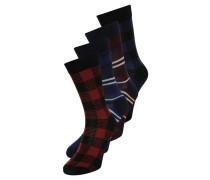 4 PACK Socken rosewood