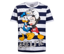 MICKEY MOUSE #SELFIE TShirt print navy/weiß