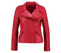 Lederjacke vintage red
