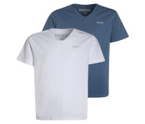 2 PACK TShirt basic white/jean