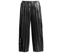 Stoffhose - black/silver