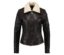 LIMONE Lederjacke dark brown