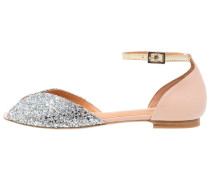 JULIETTE Riemensandalette glitter silver/pink