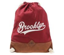 Tagesrucksack maroon/brown/white
