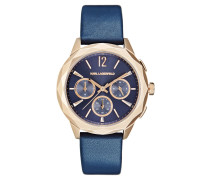 OPTIK Chronograph dark blue/rose goldcoloured