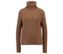 GStar AVE 3D ZIP TURTLE KNIT L/S Strickpullover dark fawn/aged olive