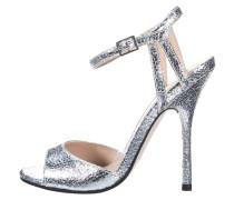 High Heel Sandaletten silver