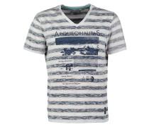 TShirt print weiss/blau/rot