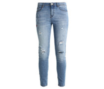 TEXTO BOLSILLOS - Jeans Slim Fit - blue denim