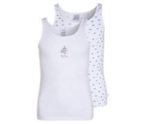 2 PACK Unterhemd / Shirt white
