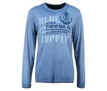 Langarmshirt petrol blue