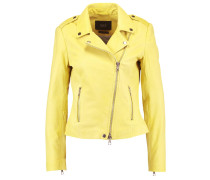 Lederjacke - dark yellow