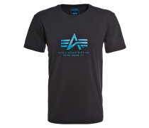 TShirt print black/blue