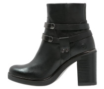 High Heel Stiefelette - black/gunmetal