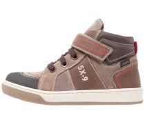 Sneaker high nero/marrone scuro