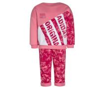 SET - Sweatshirt - easy pink/bold pink/white
