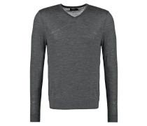 Strickpullover dark grey melange