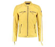 INDI - Lederjacke - yellow