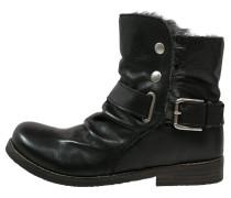 Cowboy/ Bikerstiefelette preto