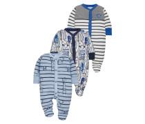 BLUE MONKEY 3 PACK Pyjama blue