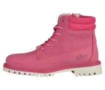 Schnürstiefelette pink