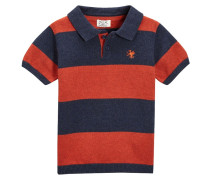 Poloshirt orange/navy