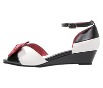 LENNIE Keilsandalette black/cream