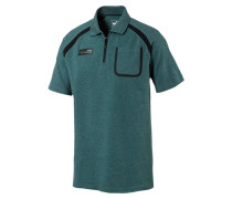Poloshirt - deep teal heather