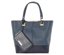 DENISHA Shopping Bag dark blue