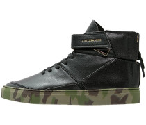 HAMACHI Sneaker high deep black/woodland/gold