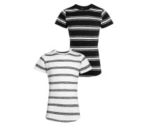 2 PACK TShirt print white/black