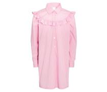 STRIPE RUFFLE - Blusenkleid - pink/white